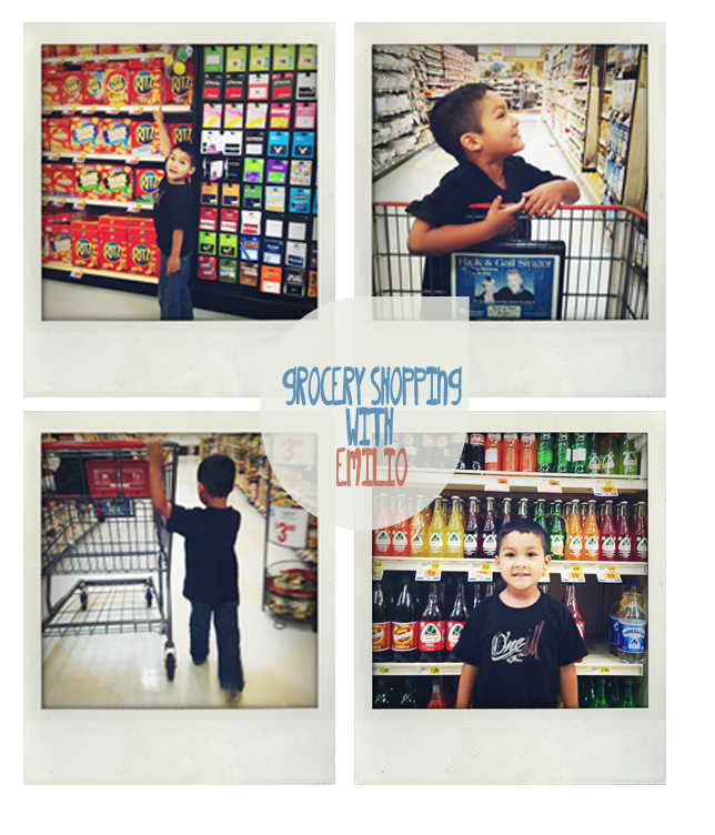 grocery shopping with emilio