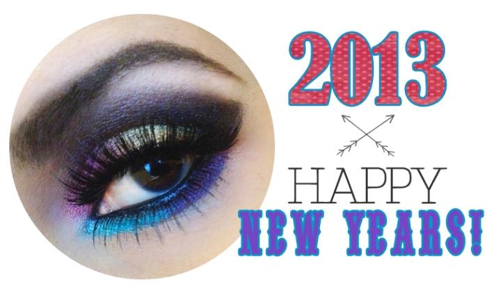 happy new years blog makeup